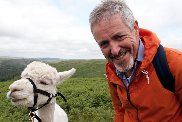 Griff Rhys Jones WithLogan The Alpaca
