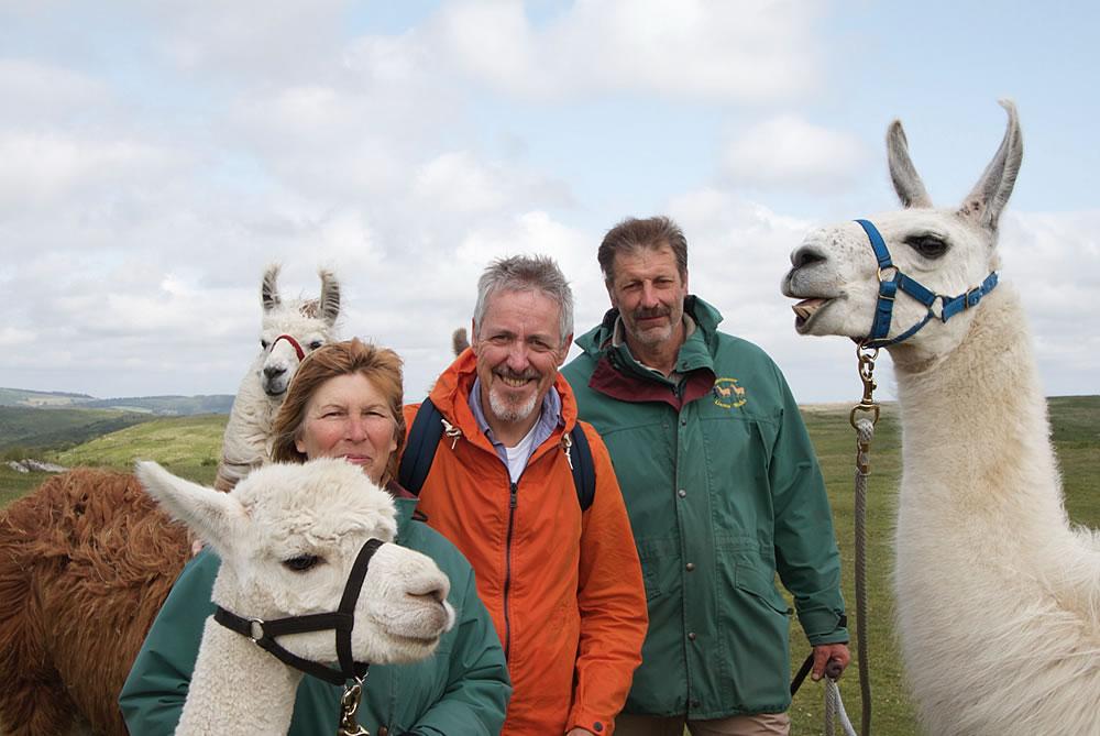 Griff Rhys Jones With Dartmoor Llama Walks